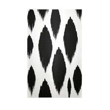 Decorative Ikat White/Black Area Rug