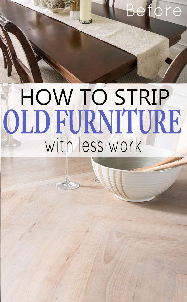 How to strip stain, paint, and varnish off of old furniture. This DIY tutorial is full of shortcuts when refinishing furniture, especially furniture with crevices and details.