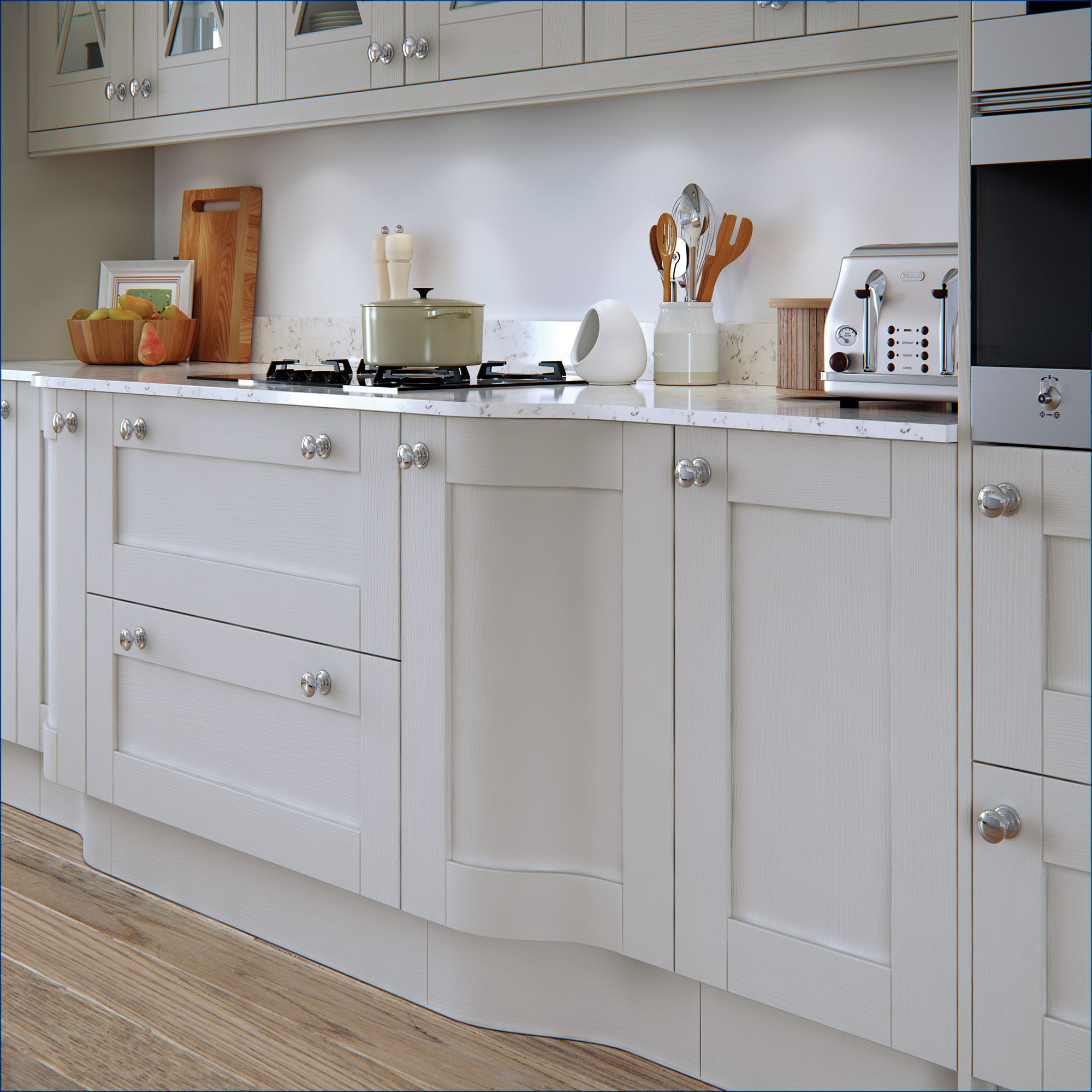 Best Madison Shaker Kitchen In Painted Light Grey Shaker 400 x 300