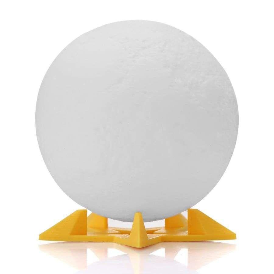 3d Printed Led Moon Light Desk Lamp Rechargeable Light Night Light Remote Control Light