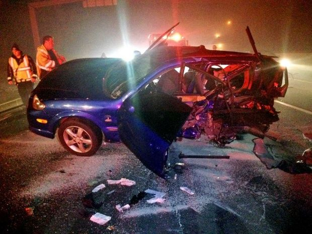 Driver slams into parked vehicle on I-95 in Fairfield