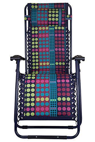 Mountain warehouse chaise longue pliante de jardin confort composition structure en acier durable