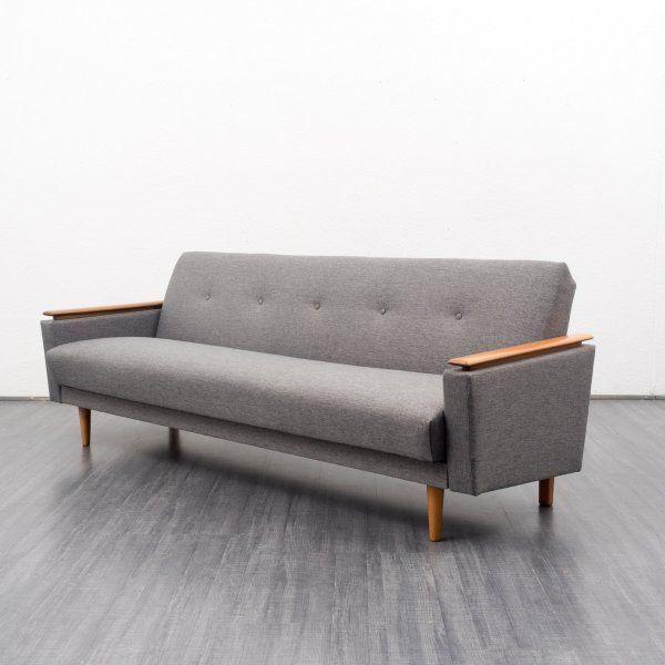Velvet-Point - sofas Elegant 1960s sofa with folding function ...