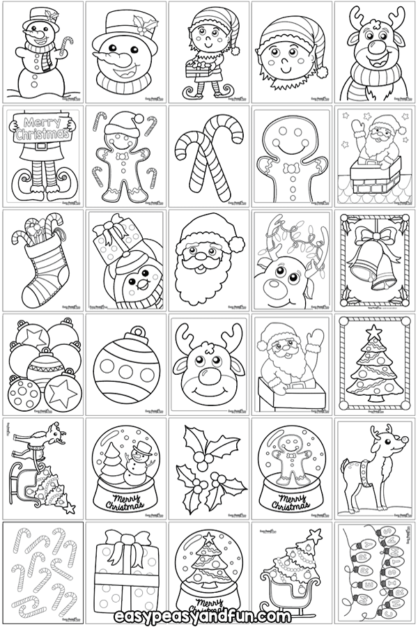 Christmas Coloring Pages Easy Peasy and Fun Kids
