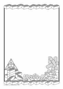 Construction area A4 page borders - black and white (SB3234) - SparkleBox