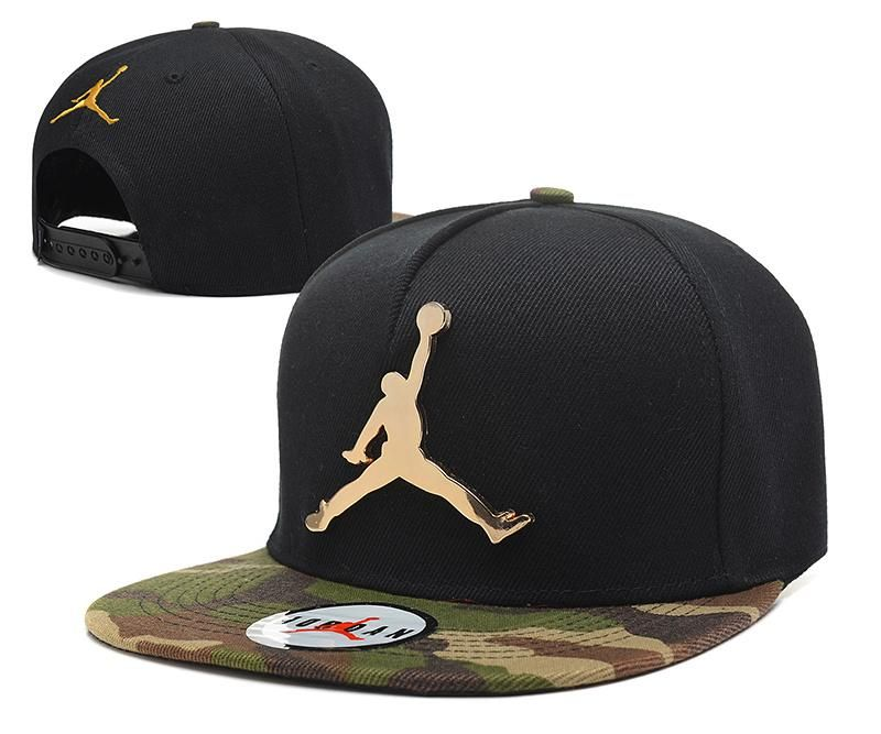 Mens Air Jordan The Jumpman Iron Gold Metal Logo A-Frame 2016 Big Friday  Deals Snapback Cap - Black   Camo b809cb22635