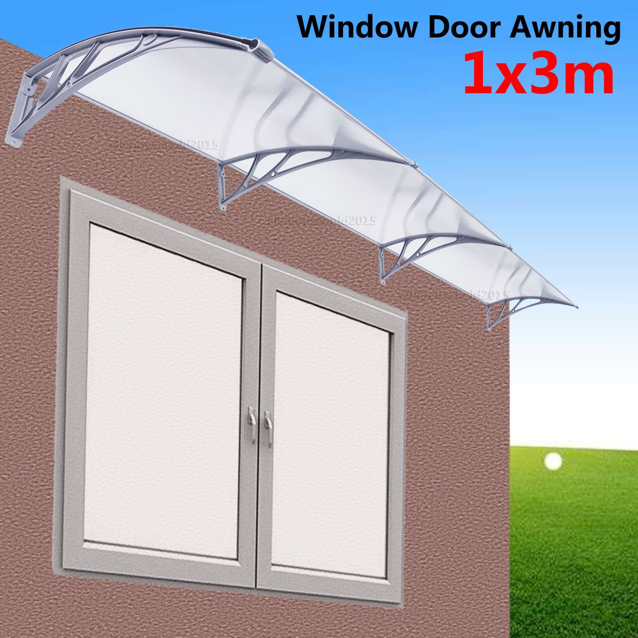 1m X 3m Diy Outdoor Window Patio Uv Rain Awning Cover Sun Shield Door Canopy Outdoor Window Awnings Canopy Outdoor Diy Outdoor