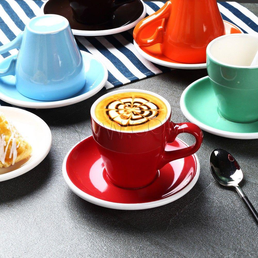 Cute creative coffee cups set tea milk juice lemon mug