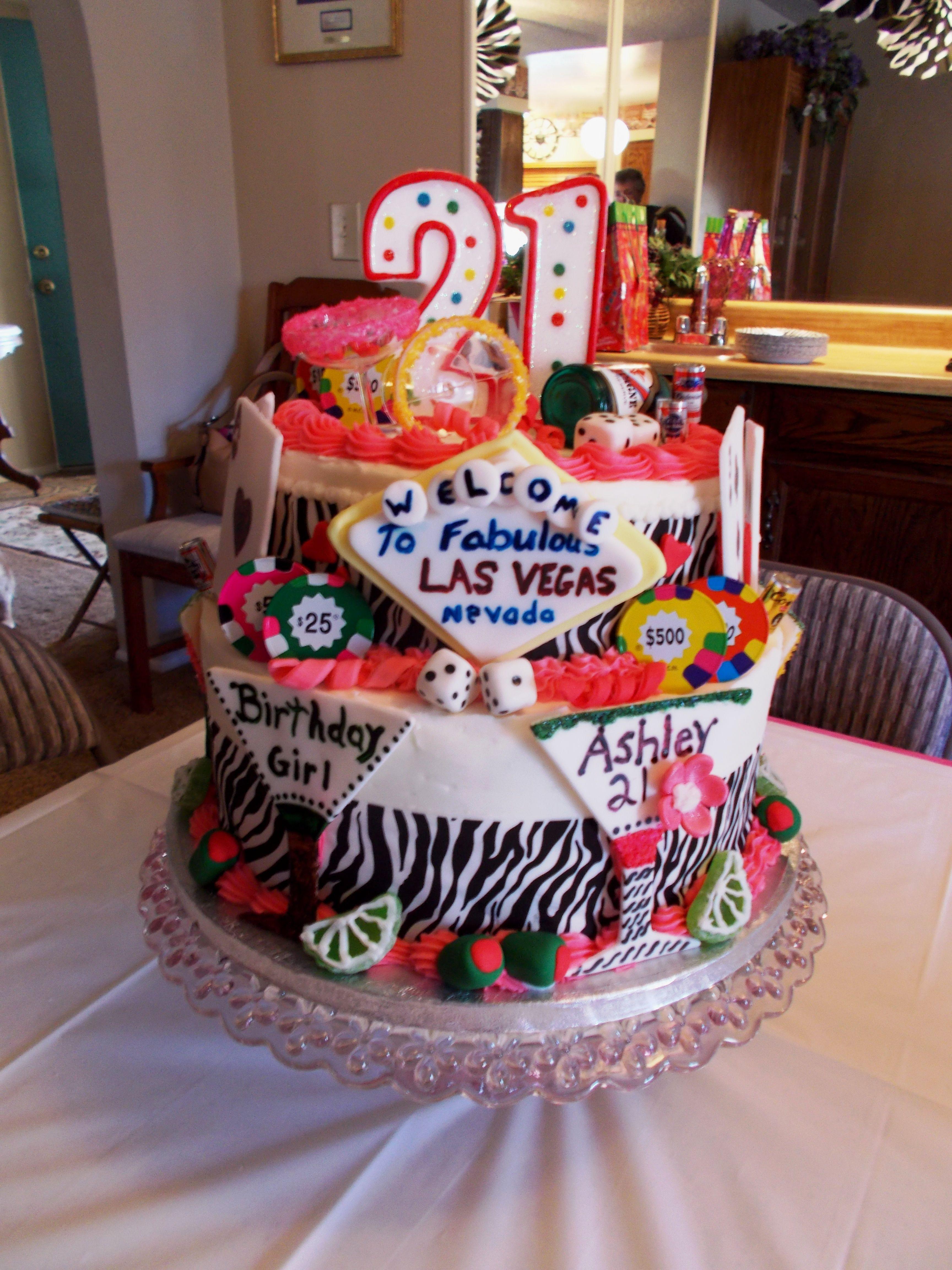 Las Vegas Cake, My daughter's 21st Birthday Cake Vegas