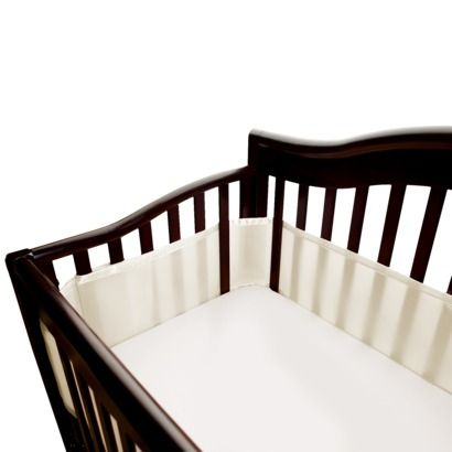 Breathable Baby Solid Mesh Crib Liner Ecru Crib Liners Breathablebaby Cribs