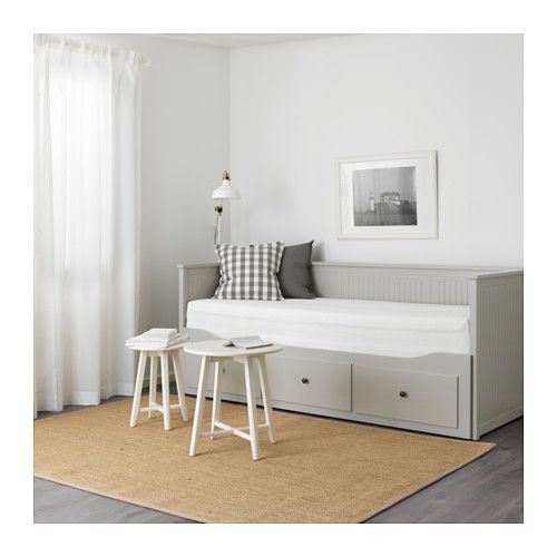hemnes day bed frame with 3 drawers grey 92x189 cm grey. Black Bedroom Furniture Sets. Home Design Ideas