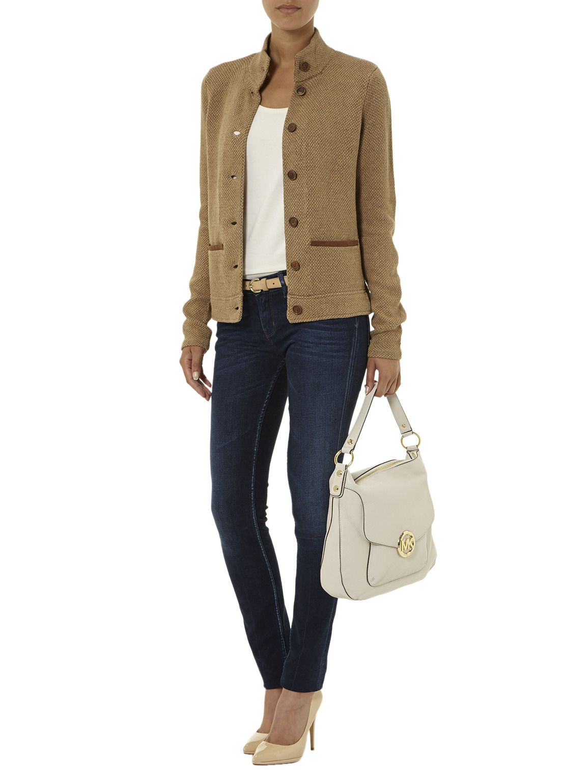 Light colored fall outfit