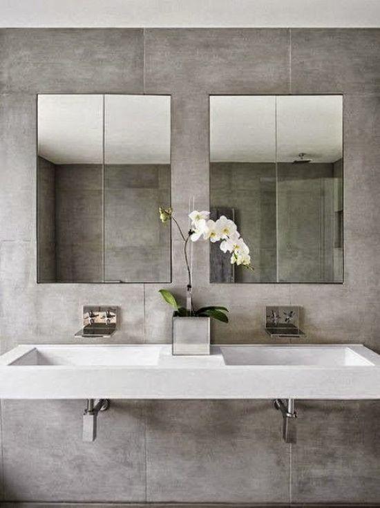 De 73 ideas de decoraci n para ba os modernos peque os for Espejos para banos pequenos
