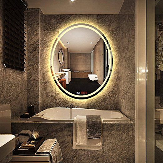 500x700mm Led Illuminated Oval Bathroom Mirror Light Make Up