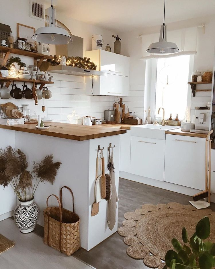 Bohemian kitchen interior #interior #interiordesignideas #interiordecor #kitchen #kitchendecor #kitchendesign #kitchenorganization #farmhouse #farmhousedecor