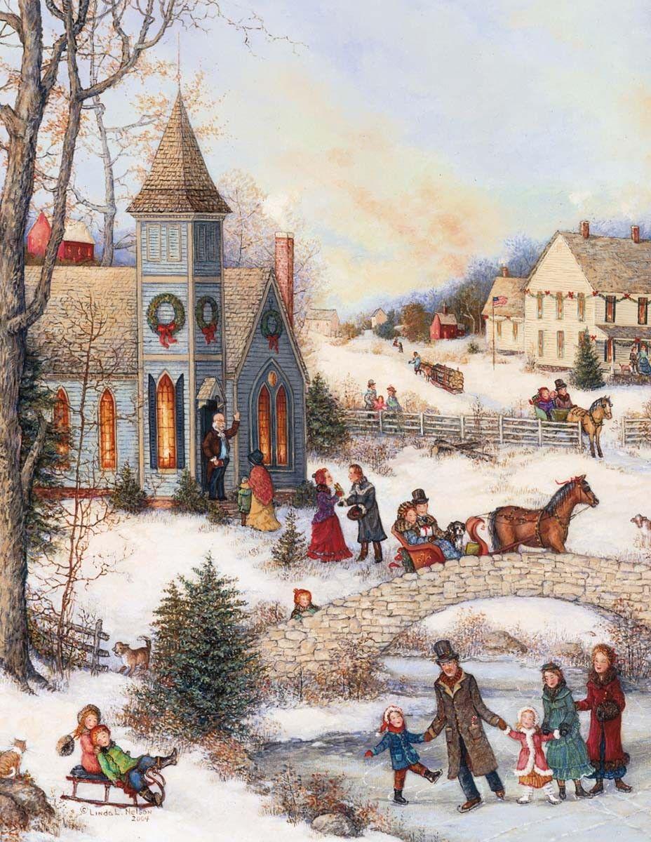 Folk Art Christmas Assorted Christmas Cards , 1008091 | Lang | Art ...