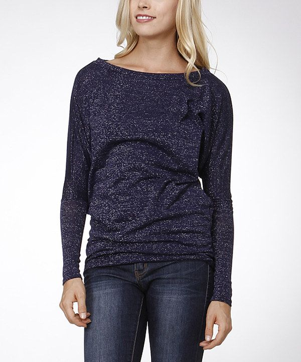 Look at this Bellino Navy Dolman Top on #zulily today!