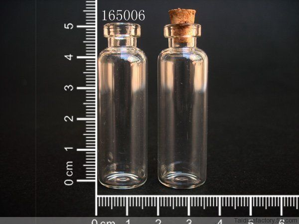 20pcs 16x21mm Bottles Tiny Small New Empty Clear 1ml Glass Vials With Screw Cap
