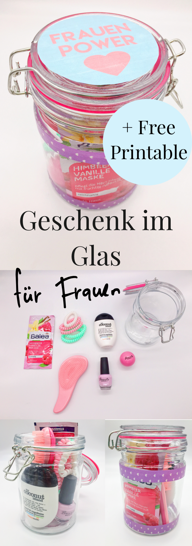 diy geschenke im glas selber machen pinterest. Black Bedroom Furniture Sets. Home Design Ideas