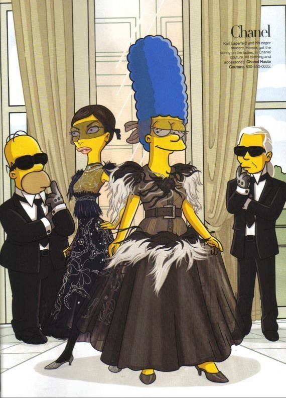 """""""The Simpsons"""" in Chanel"""
