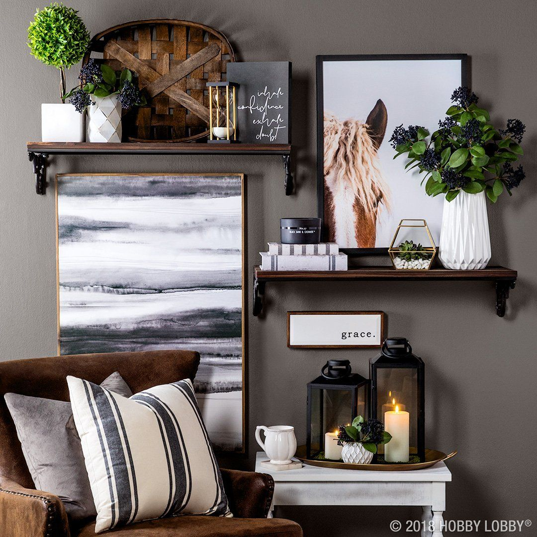 Give Your Modern Farmhouse Decor A Dramatic Twist With Moody Black And White Pieces Farmhouse Decor Living Room Home Decor Signs Living Wall Decor