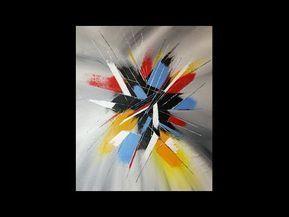 Peinture Acrylique Abstraite Facile Youtube Abstract In 2019