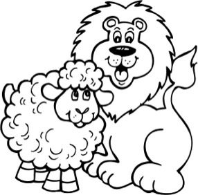 Lion And Lamb 2 Lion And Lamb March Crafts Lamb Craft