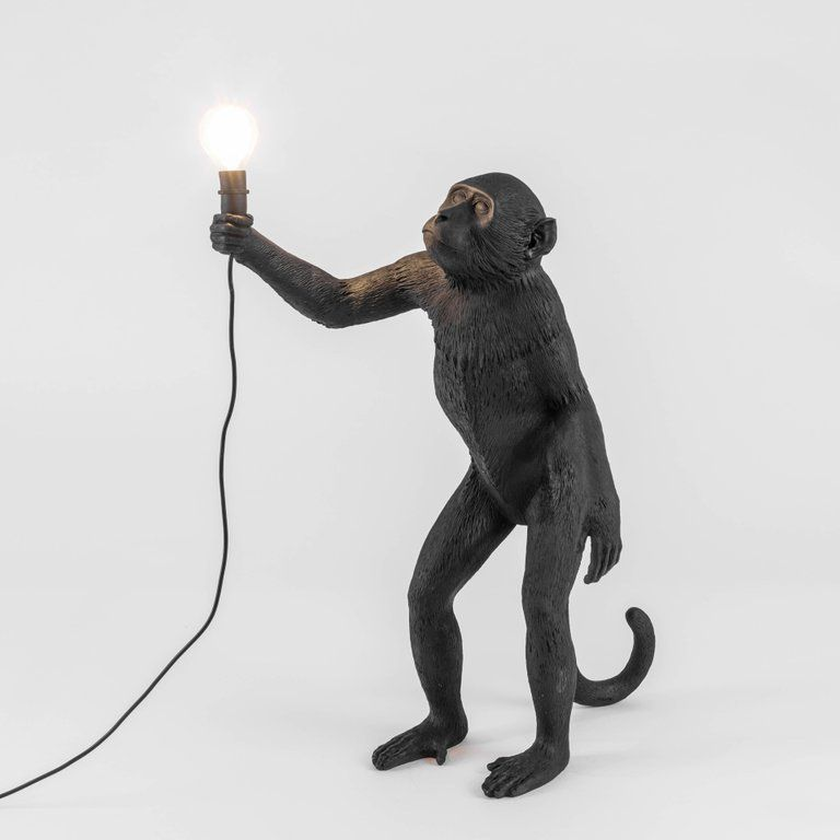 Seletti Monkey Lamp Outdoor Us Resin Lamp Standing With Images Black Lamps