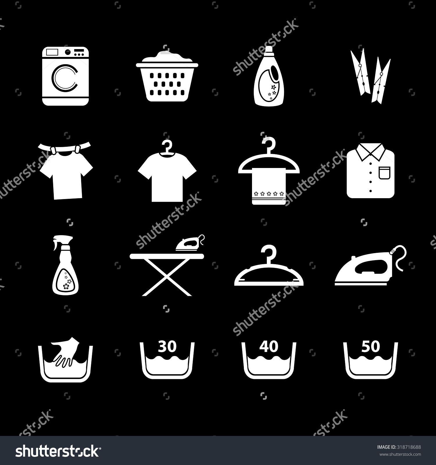 Laundry icon. Housework icon. Vector Illustration. EPS10