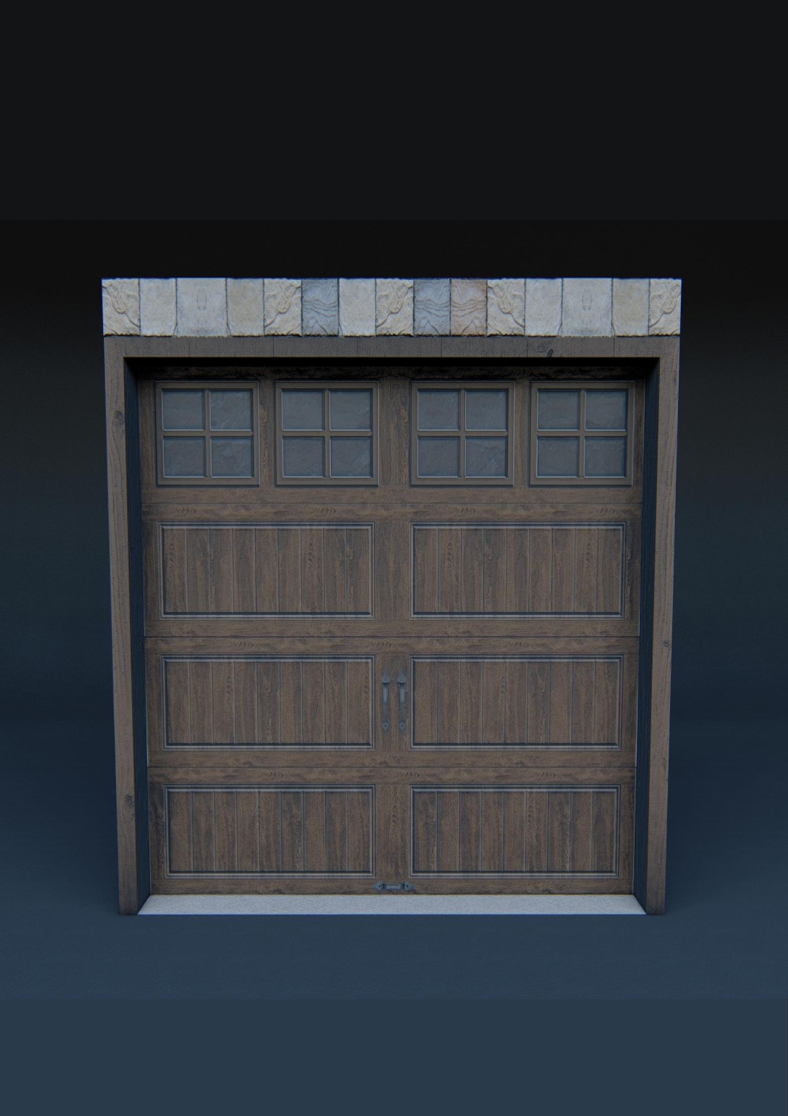 Single Garage Door 3d Model In 2020 Single Garage Door Garage Doors 3d Model