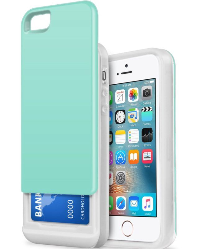 Amazon.com: iPhone 5 Case,iPhone 5S Case, BENTOBEN Slide Hard PC Shell and Soft TPU Bumper Dual Layer Hybrid iPhone SE Cases Wallet Case Credit Card Holder Shockproof Cover for iPhone 5 5S SE, Mint Green: Cell Phones & Accessories   @giftryapp