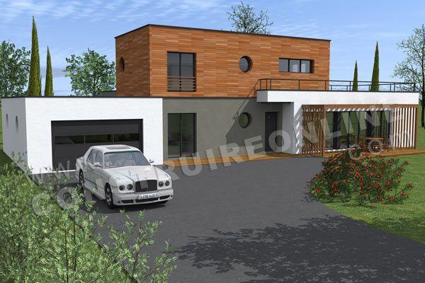 plan maison moderne avec garage