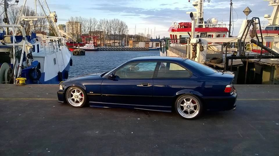 Montreal Blue BMW E36 Coupe On OEM Styling 19 BBS RT Wheels