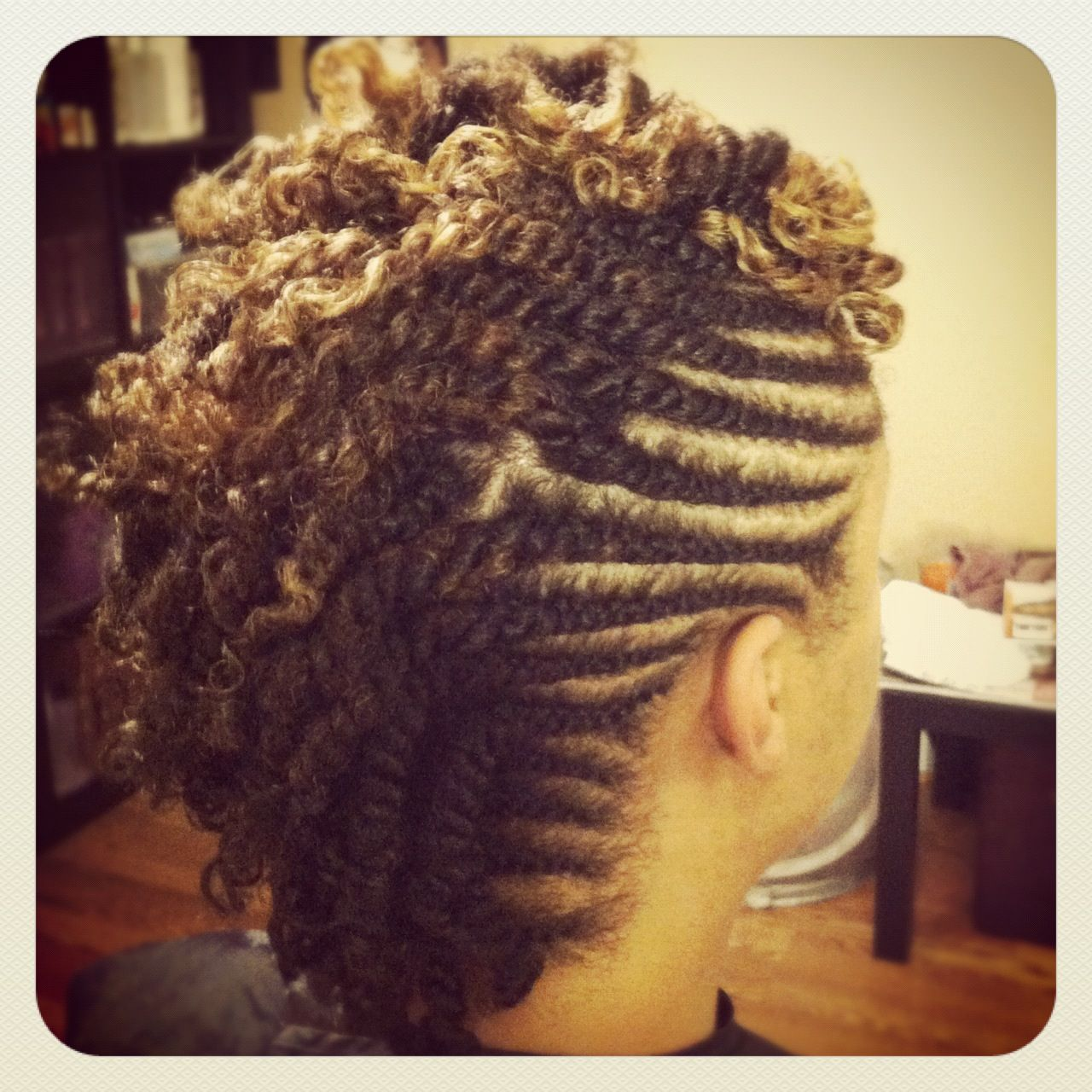Double twist Mohawk | Natural hair styles, Hair styles, Hair game