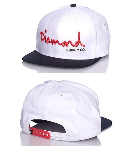 Click it to buy it. *DIAMOND SUPPLY COMPANY *Snapback cap *Adjustable strap on back *Embroidered DSC diamond logo on front'