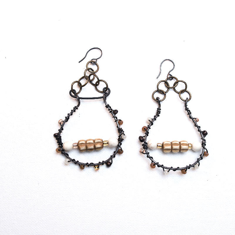 Sheilds of Steel antique Gold and Gunmetal Wire wrapped Shield ...