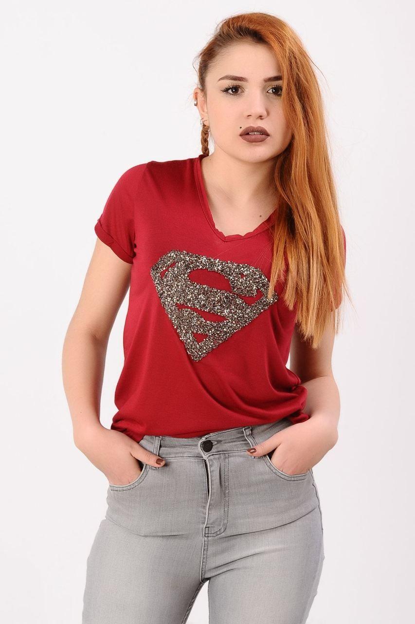 Superman Tasli Kirmizi T Shirt Giyim Indirim Kampanya Bayan Erkek Bluz Gomlek Trenckot Hirka Etek Yelek Mont Kase Kaban Elbi Moda Trenckot Mont