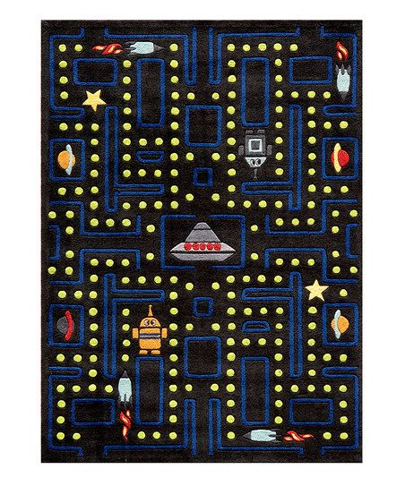 Black Arcade Rug With Images Kids Area Rugs Kids Rugs Hand
