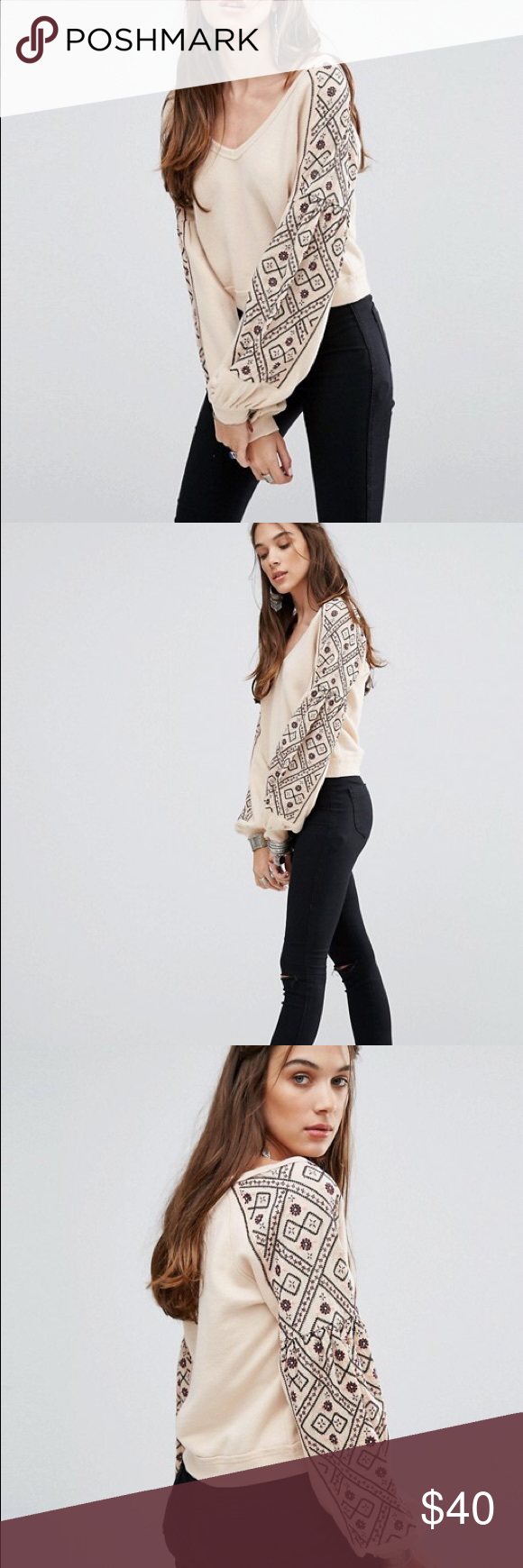 Free People señorita pullover sweater Free people senorita
