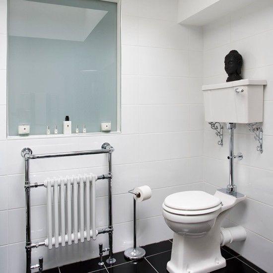 Klassische Weiße Badezimmer Mit Schwarzen Boden U2026Wohnideen Badezimmer  Living Ideas Bathroom