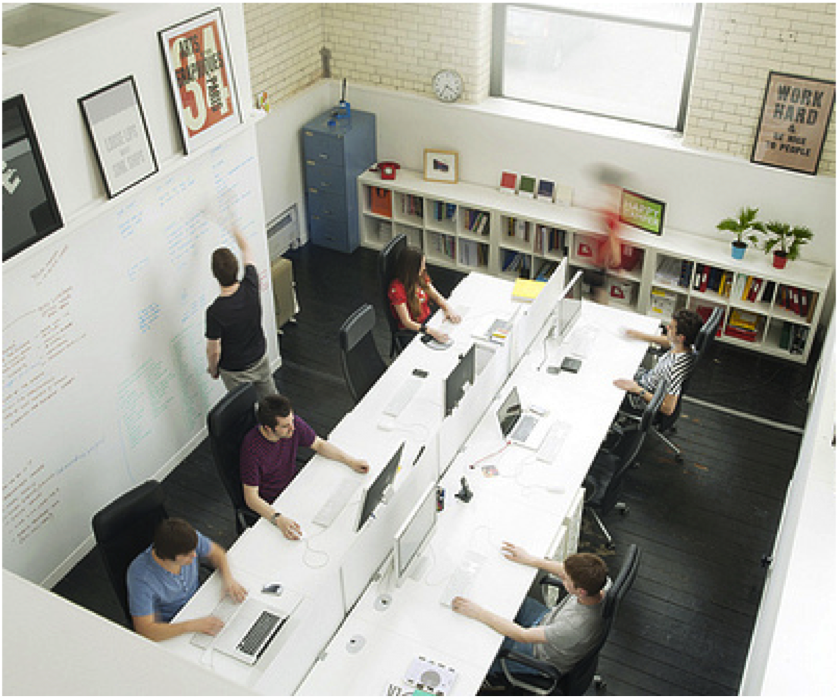 Proximity Of Work And Thinking Surfaces Design Studio Office