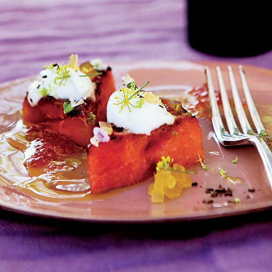 Grilled Watermelon with Yogurt  | Food & Wine