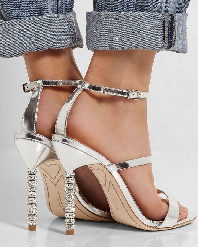 3ddd9892663 SOPHIA WEBSTER Rosalind Crystal-embellished Metallic Leather Sandals ...