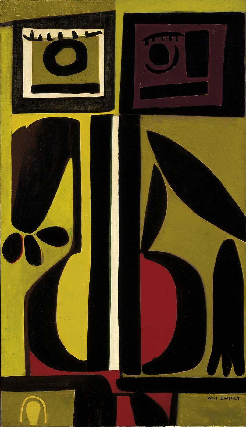 Will Barnet, Janis and the White Vertebra, 1955 | Art | Pinterest