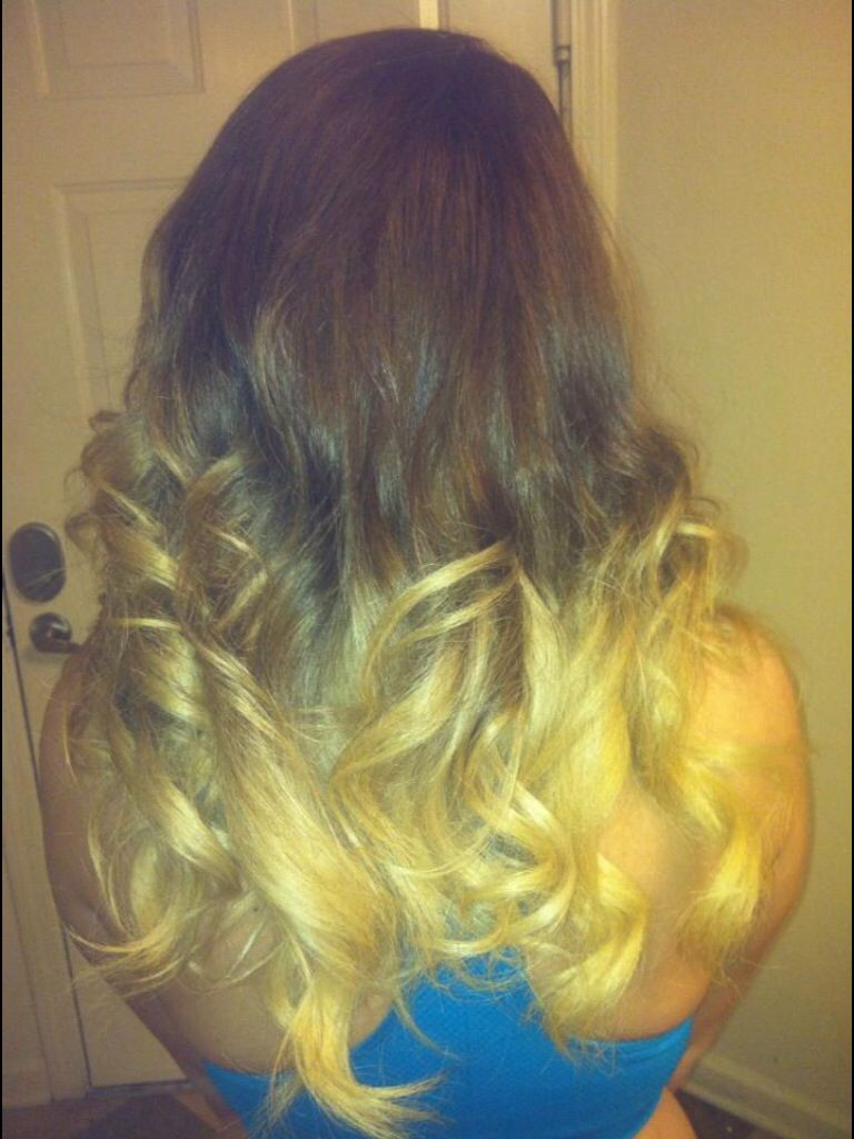 Reverse ombré (blonde and brown)