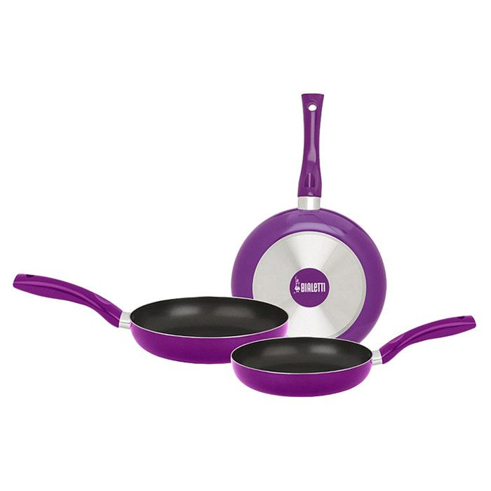 Bialetti 3 Piece Pan Set in Purple.