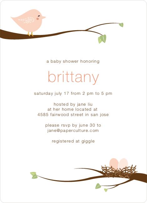 Whimsical nesting birds shower invitations babies and baby shower whimsical nesting birds baby shower invitations pink robin but in blues for jack filmwisefo