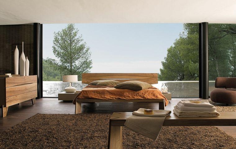 muebles de madera natural en el dormitorio moderno arq Pinterest