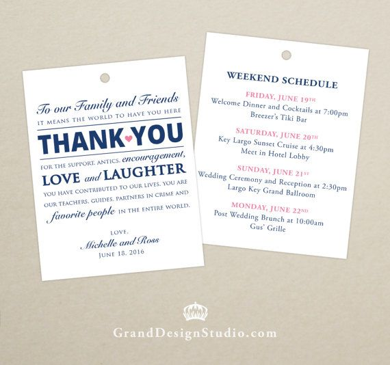 Destination Wedding Etiquette Gifts: This Listing Is For A Set Of 10 Double-sided Tags (no