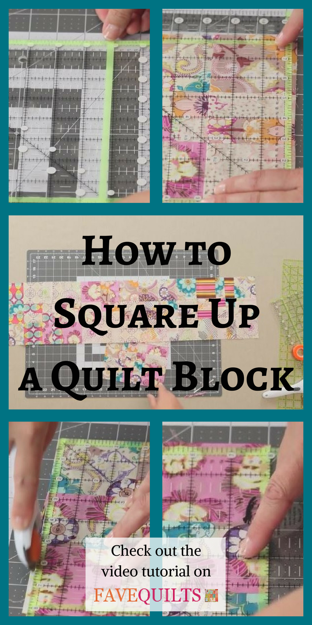 How To Square Up A Quilt Block Sewing Machine Quilting Beginning Quilting Beginner Quilting Projects